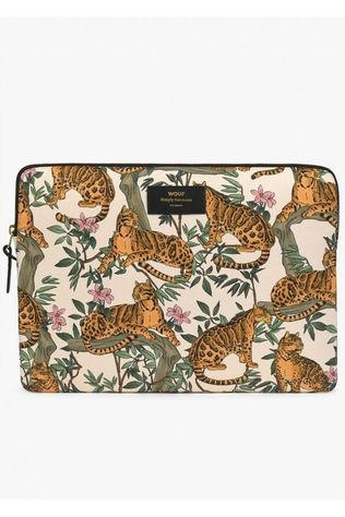 Wouf Accessoire De Bureau Laptop Sleeve 13 Inch Lazy Jungle Blanc/Orange