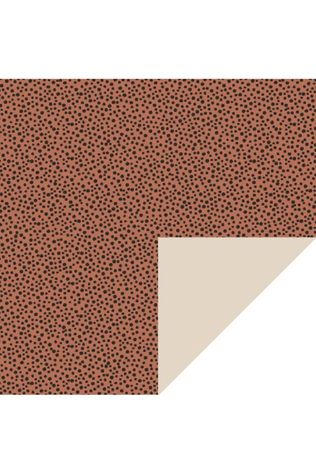 House of Products Inpakpapier Black Dots - Terra (70cm x 2m) Middenbruin/Zwart