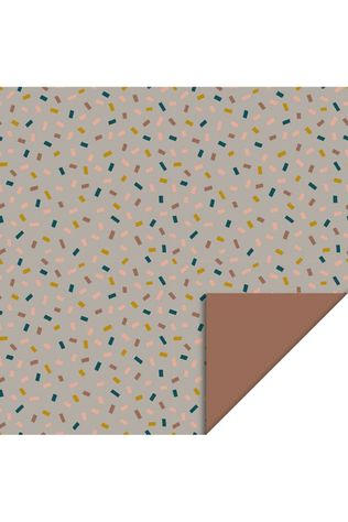 House of Products Inpakpapier Confetti Multi - Taupe - Terra (70cm x 2m) Assorti / Gemengd