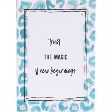 Postkaart Trust The Magic Of New Beginnings