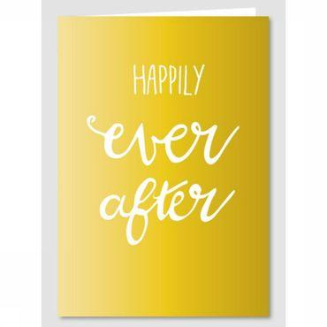 Wenskaart Gold Happily Ever After