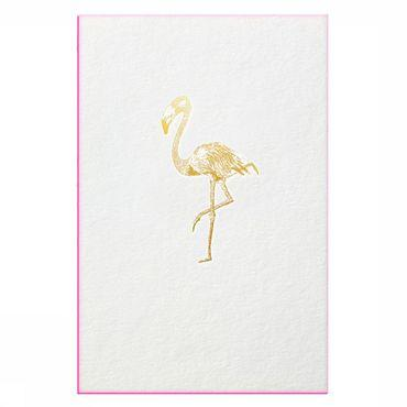 Postkaart Gold Fever Flamingo