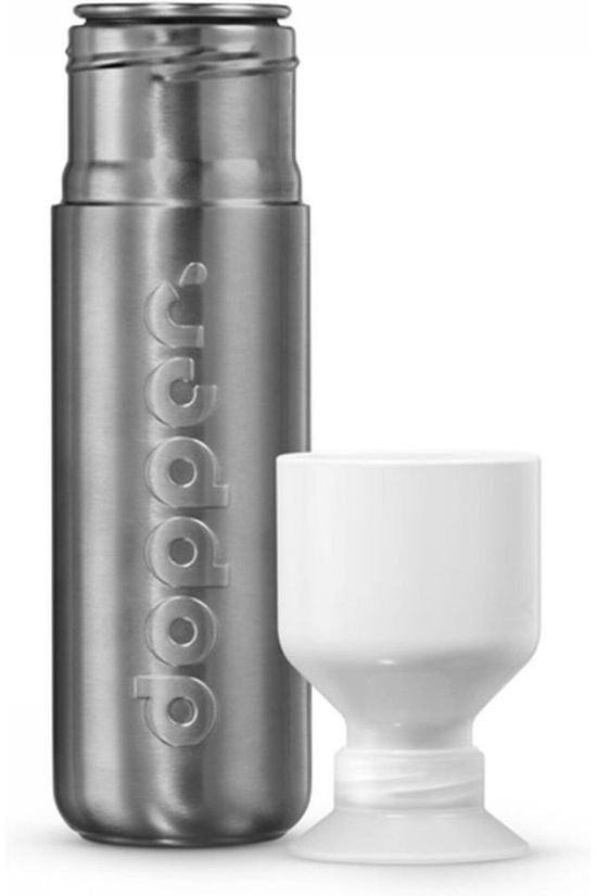 Dopper Drinkfles Drink Bottle Solid Steel Middengrijs