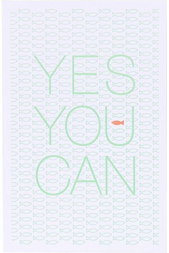 Papette Carte de Voeux Yes You Can Pas de couleur / Transparent