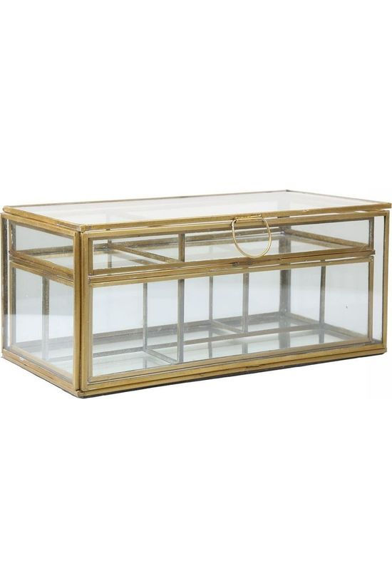 Madam Stoltz Glassbox With Removable Trays Geen kleur / Transparant/Koper