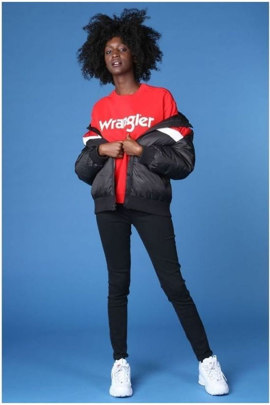 Wrangler Jas Ski Faded Black Zwart/Middenrood