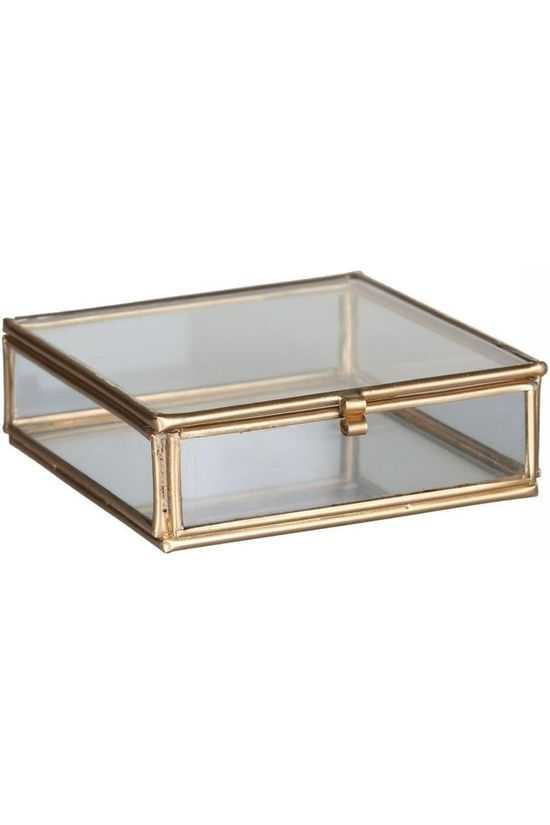 Madam Stoltz Quadratic Glass Box Or