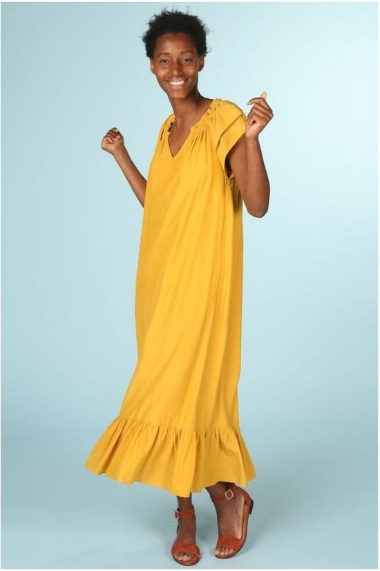 Co'Couture Robe Sunrise Jaune Clair
