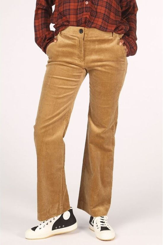 Co'Couture Pantalon Railway Marron Chameau