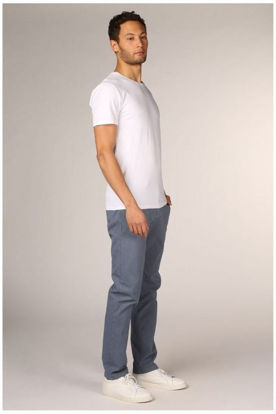 Four.Ten Pantalon 2001-T926.039 Bleu Moyen