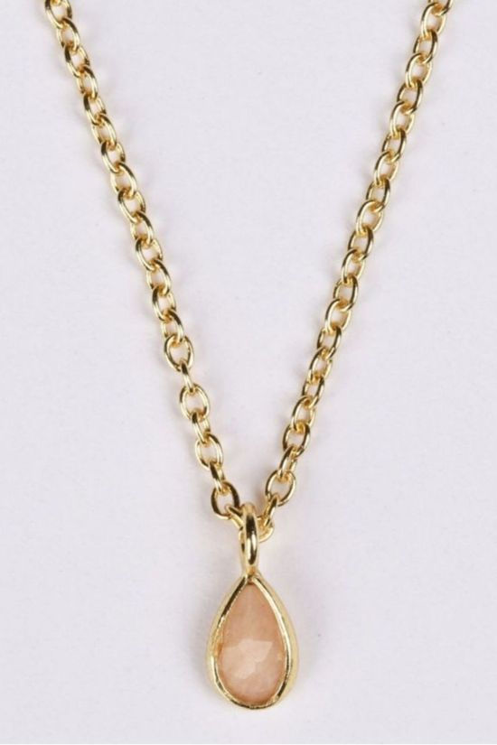 Muja Juma Collier Tiny Drop Or/Rose Clair