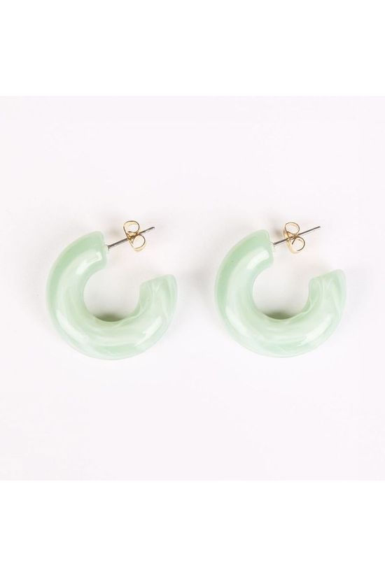 Club Manhattan Boucle d'Oreille Bubble Hoops Vert