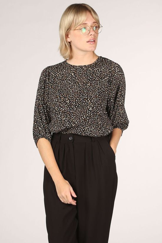 Co'Couture Blouse Andaluia Zwart/Donkergeel