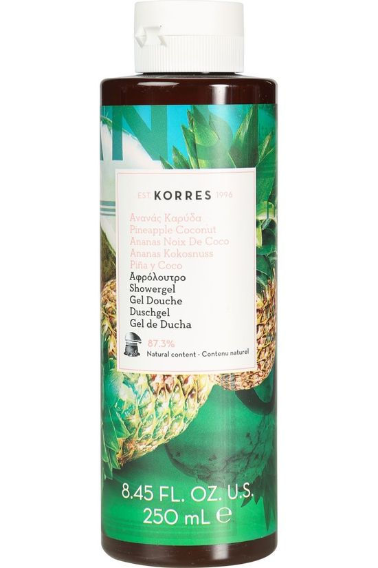 Korres Ananas Kokosnoot Douchegel 250ml Wit/Middengroen