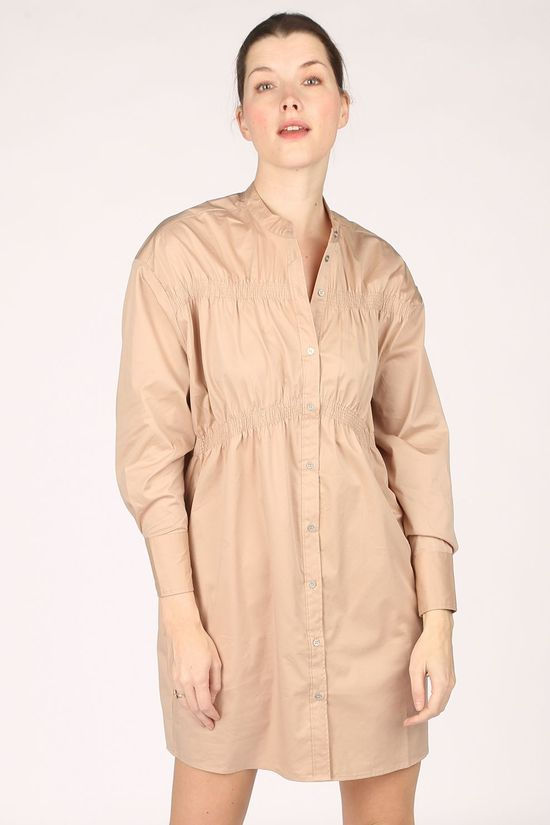 Co'Couture Robe Hera Poplin Brun Sable