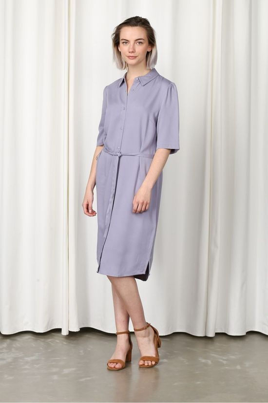 Another-Label Jurk Ryawa Middenblauw