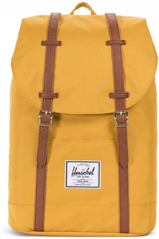 Herschel Supply Sac à Dos Retreat Jaune Foncé/Marron Chameau