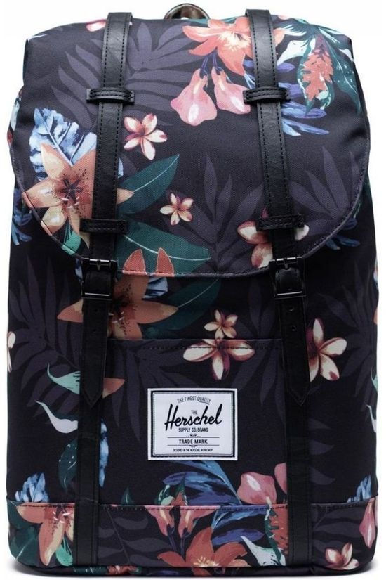Herschel Supply Sac à Dos Retreat Gris Foncé (Jeans)/Ass. Fleur