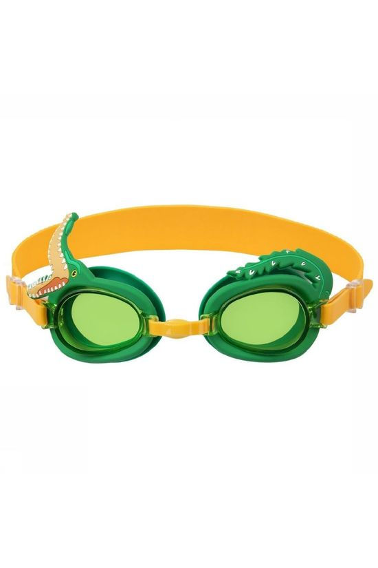 Sunnylife Speelgoed Shaped Swimming Goggles 3-9 Croc Middengroen