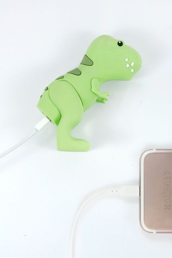 MOJI POWER Oplader Dino External Battery 2600 Nh Middengroen