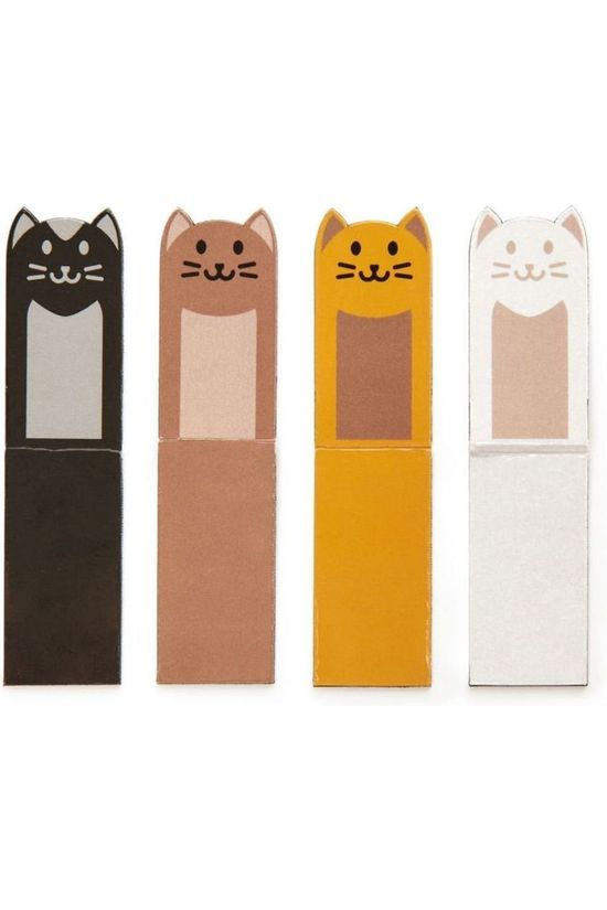 Kikkerland Magnetic Bookmark Cats Geen kleur / Transparant