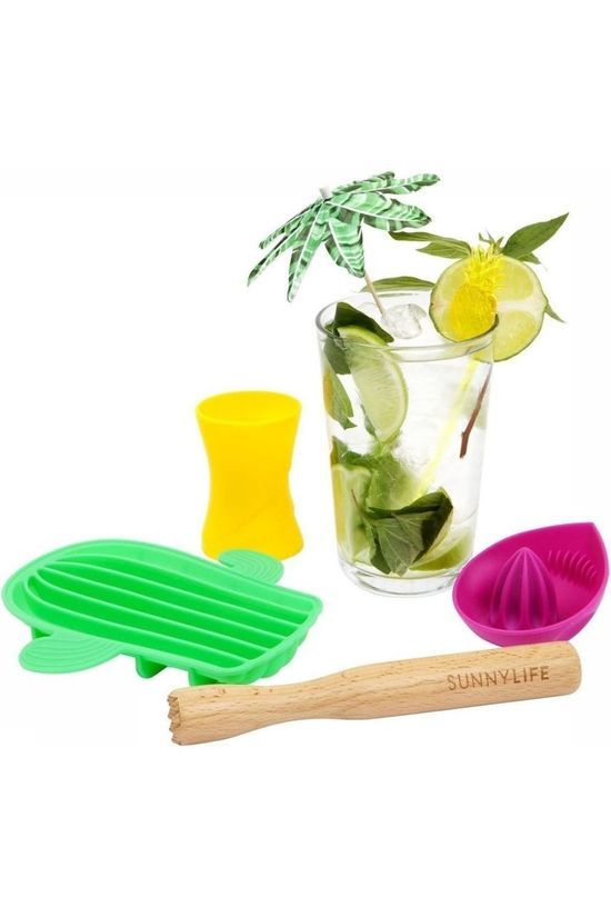 Sunnylife Gadget Mojito Cocktail Set Middengroen/Assorti / Gemengd