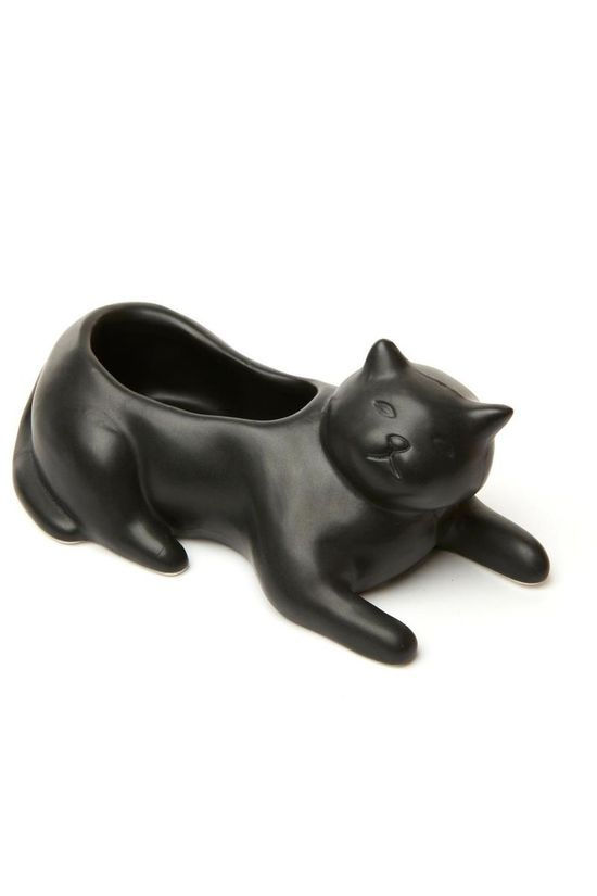Kikkerland Gadget Cosmo The Black Cat Planter Zwart
