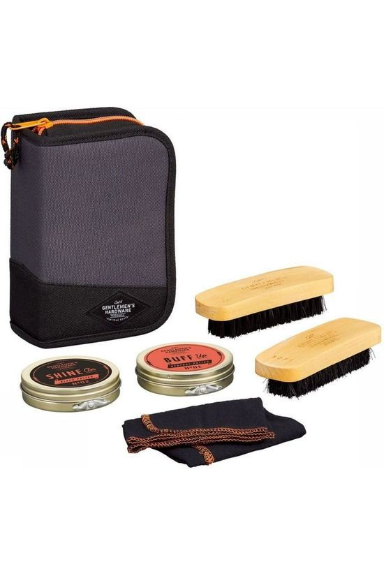 Gentlemen's Hardware Gadget Shoe Shine Kit Noir/Orange