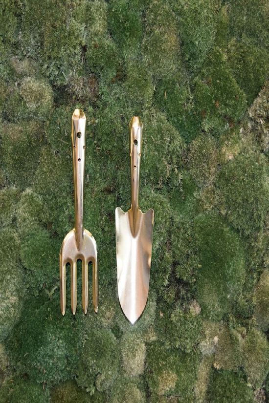 Esschert Gadget Gold Coloured Gardentool Set Or