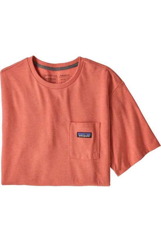Patagonia T-Shirt P-6 Label Pocket Responsibili-Tee Rouge Clair