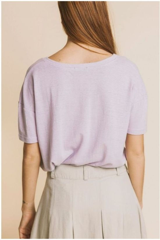 Thinking Mu T-Shirt Mauve Hemp Cloe Pourpre Clair