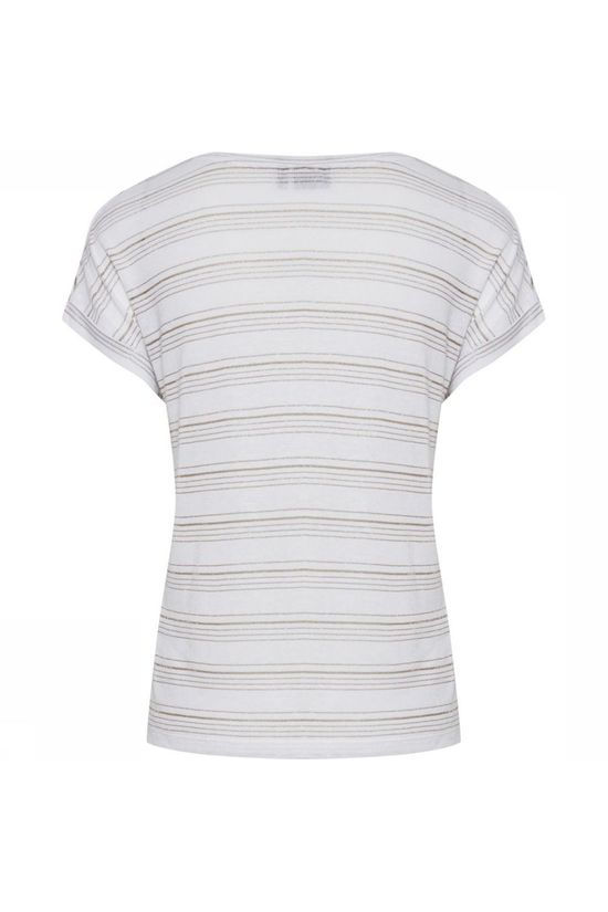 B.Young T-Shirt Bysinna Blanc Cassé/Or