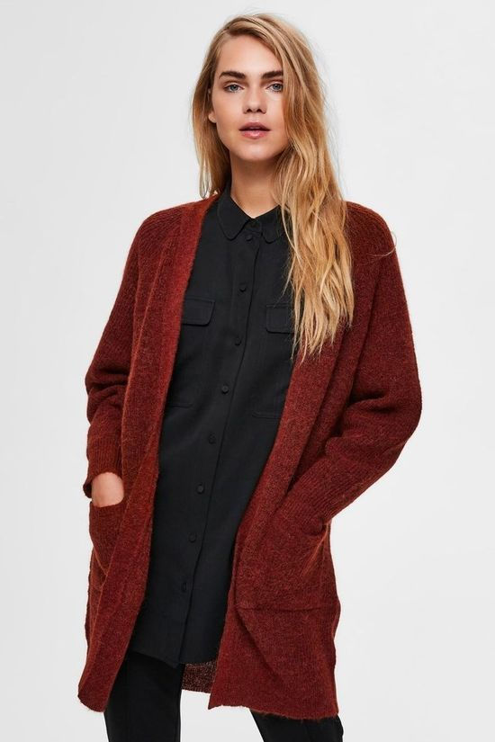Selected Cardigan lulu Ls Nos Rouille
