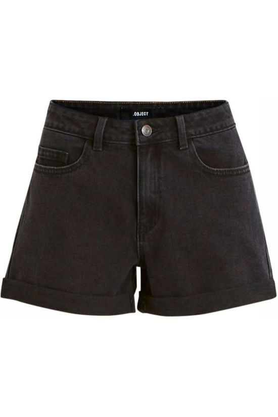 Object Short Anna Black Denim Pb7 Zwart