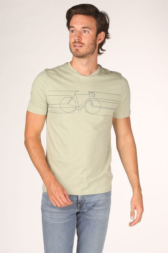 ARMEDANGELS T-Shirt Jaames Smooth Bike Kaki Clair
