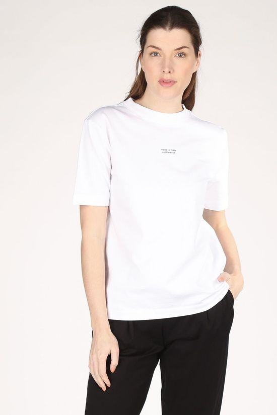 ARMEDANGELS T-Shirt Taraa Difference Blanc