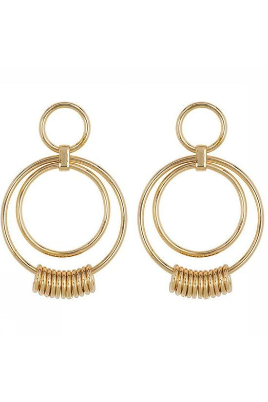 Club Manhattan Boucle D'Oreille Ring It Up Statement Hoops Or