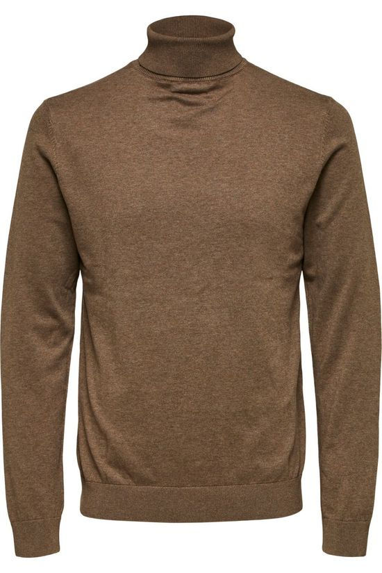 Selected Trui berg Roll Neck B Noos Zandbruin