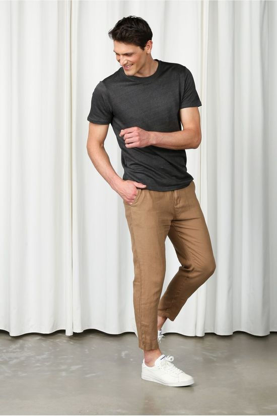 Knowledge Cotton Apparel Pantalon 70286 Brun Sable