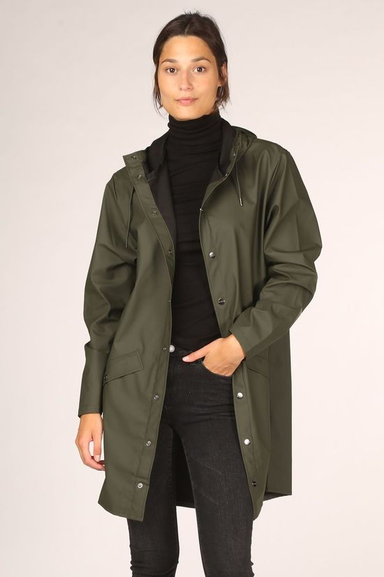 Rains Long Jacket 1202 Middenkaki