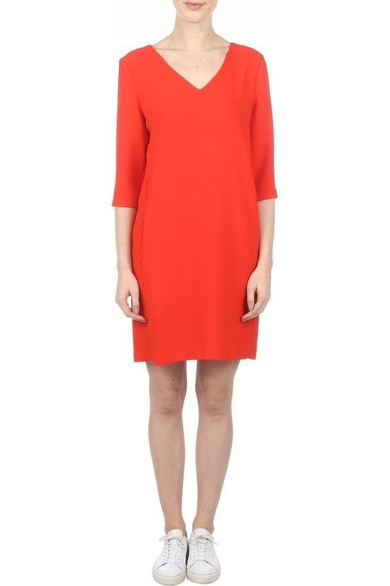 Selected Jurk Sf Tuni Smile 3/4 Middenrood