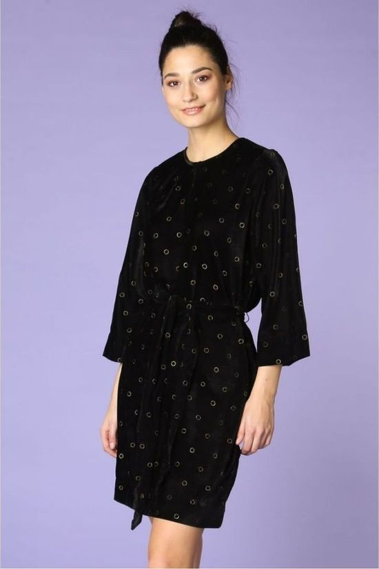 Numph Robe Grisell Noir/Or