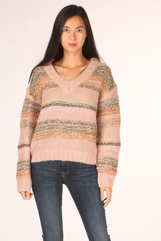 Numph Pull charlie V-Neck Rose Clair/Or
