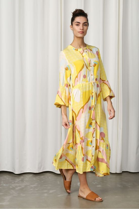 Numph Robe Nucasey Jaune Clair/Assorti / Mixte