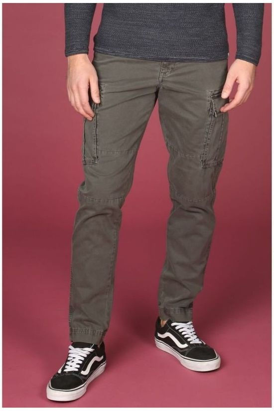 Selected Pantalon taperedbrock Kaki Foncé