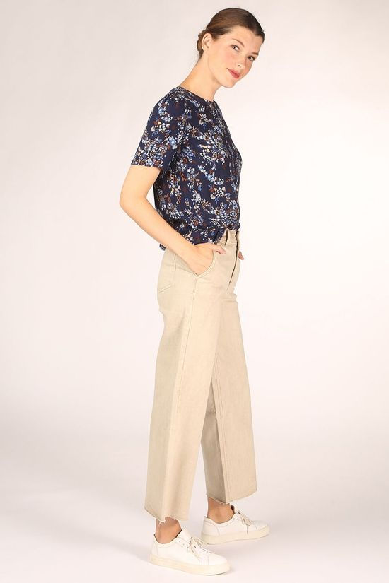 B.Young Blouse Byjill Blouse - Donkerblauw/Ass. Bloem