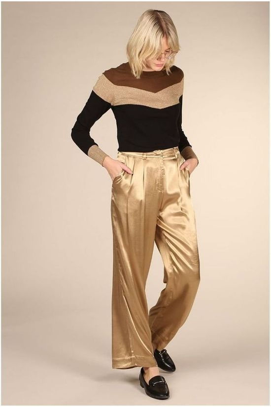 Selected Pantalon dakota Mid Waist Wide Or