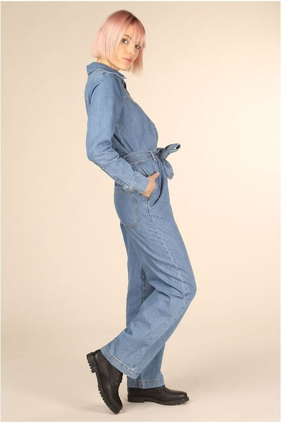 Selected Jumpsuit Dana Mid Blue Denim Middenblauw (Jeans)