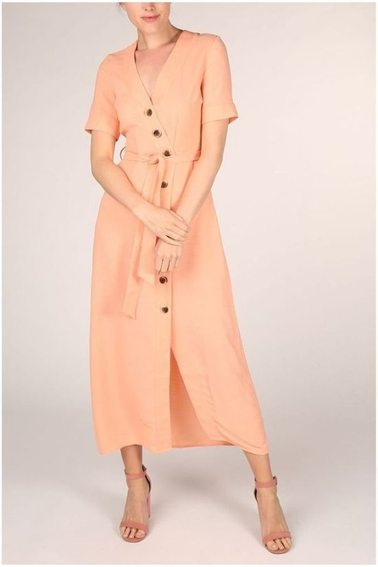 Yas Robe Marion 3/4 Ankle Rose Saumon