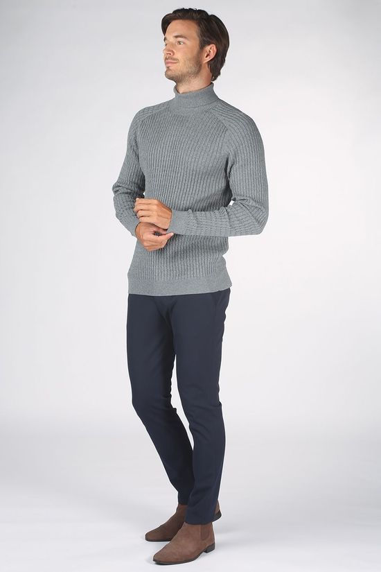 Selected Pull carlos Rn Gris Clair Mélange